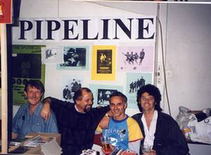 Pipeline Convention 1994 in London v.l.n.r.: Maurice Preece (Counterpoint), Herbert Hooke, Paul Keyes (Surf Trek), Mike Beddoes (The Falcons)